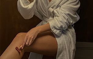 shave your leg with no pressure with a sharp blade