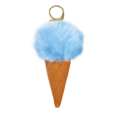 Blue Ice Cream Furry Pom Clip