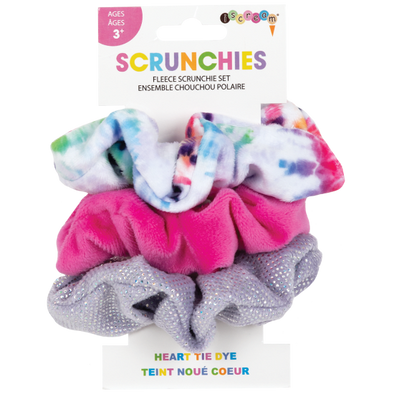 Heart Tie Dye Scrunchie Set