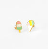 Yellow Owl Sno Cone & Popsicle Earrings