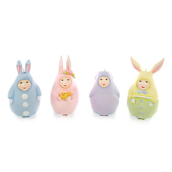 Set of Four Egg Bunny Ornaments