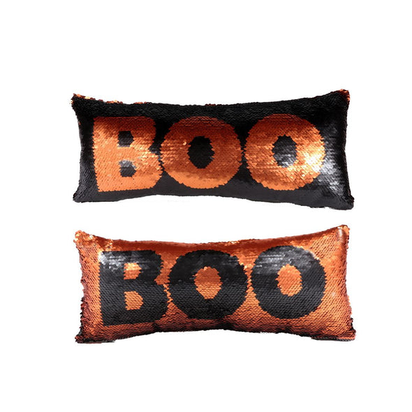 Reversible Sequin Boo Pillow