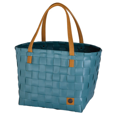 Color Block Teal Blue Recycled Tote