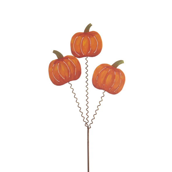 Three Pumpkins on Stake