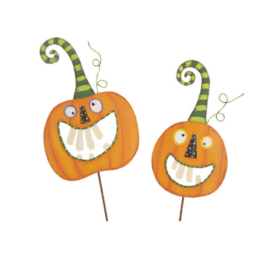 Crazy Tooth Pumpkin Pair Set of Two