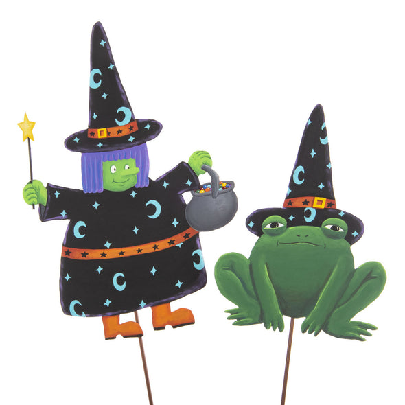 PREORDER 50% DEPOSIT Broomhilda & Pet Frog Set of Two