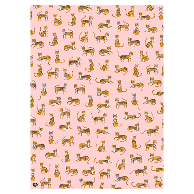 Off Duty Tigers Wrapping Paper