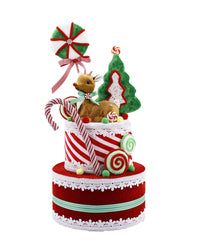 PREORDER 50% DEPOSIT Peppermint Cake Tree Topper