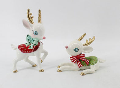 Retro Deer Set of 2