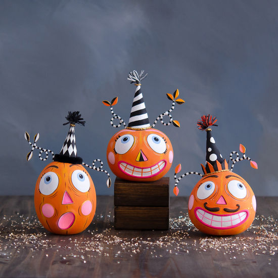Party Pumpkin Tabletop Set of Three