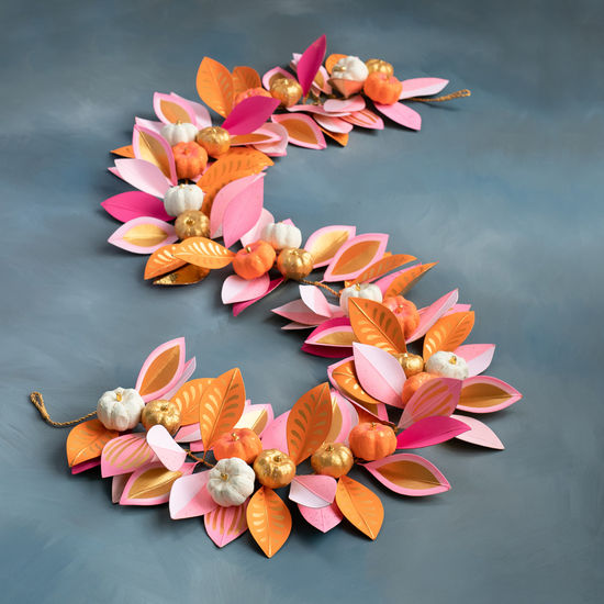Pumpkin Leaf Garland