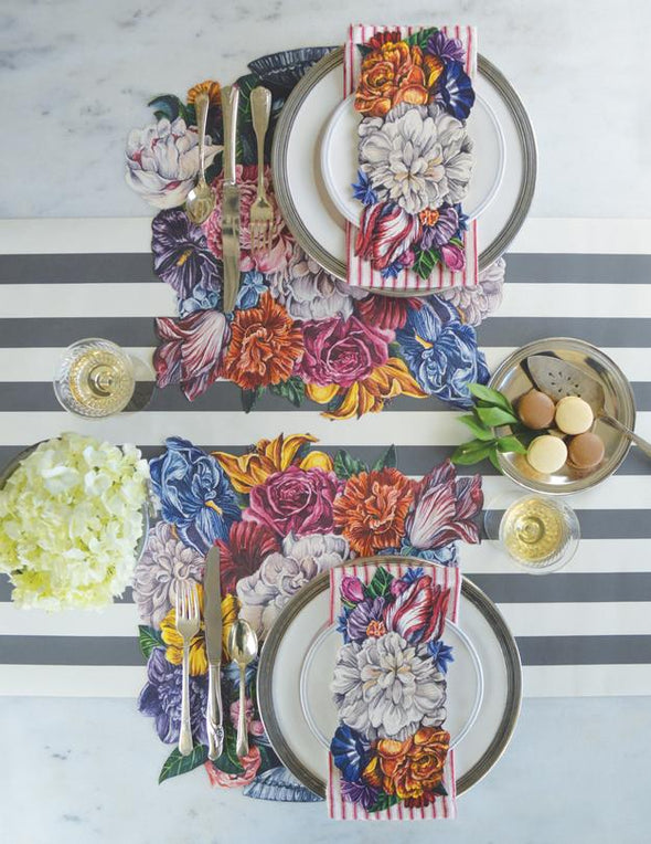 Die-Cut Dutch Floral Placemats