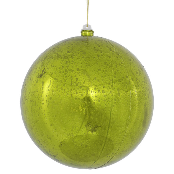 "8"" Lime Shiny Mercury Ornament"