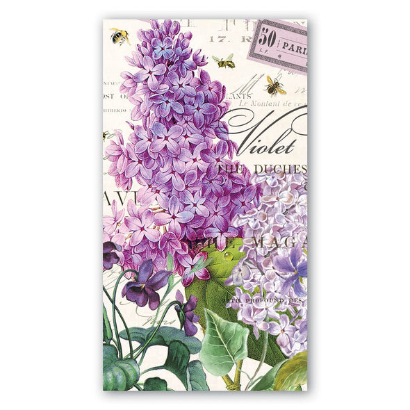 Lilac and Violets Hostess Napkin
