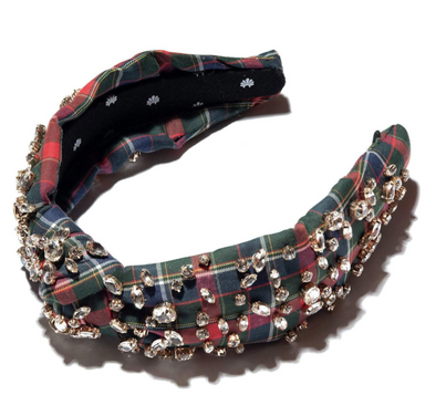 Plaid Crystal Headband