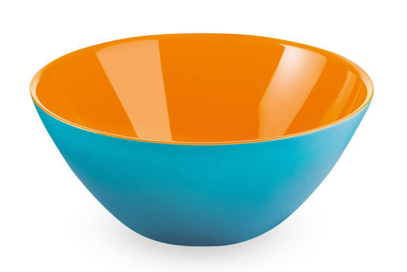Large Teal/Orange Fusion Bowl