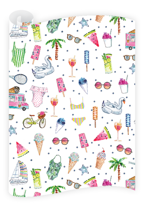 Pool Party Wrapping Paper Roll