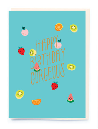 Juicy Fruit Bday Card