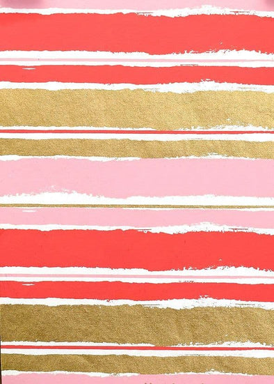 Pink Painterly Stripe Wrapping Paper