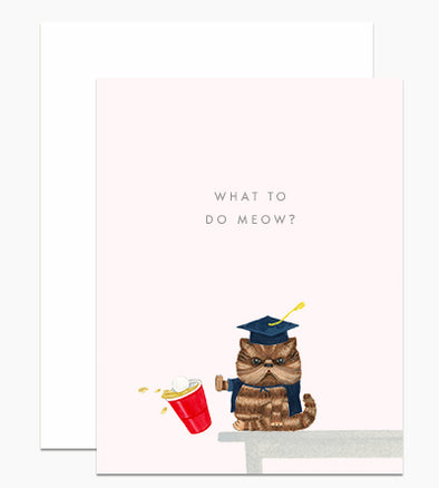 What to do Meow Grad Card