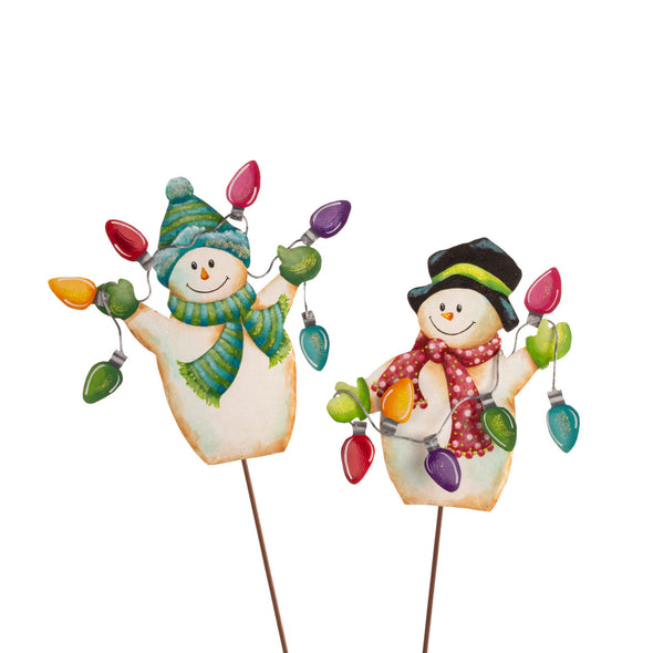 PREORDER 50% DEPOSIT String Light Snowmen Set of Two