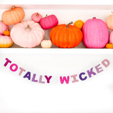 Totally Wicked Felt Garland