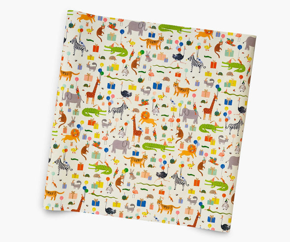 Party Animals Wrapping Paper Roll