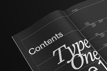 Load image into Gallery viewer, TYPEONE Magazine — Issue 01 Campaign