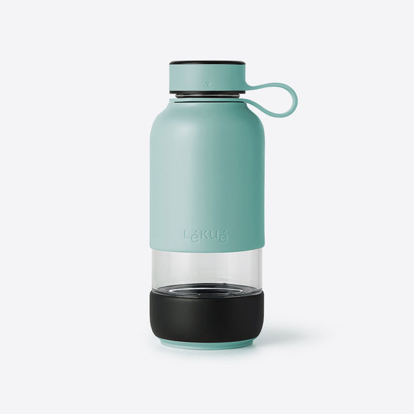 Lékué - Bottle to Go Drinkfles 600 ml glas/kunststof Turquoise
