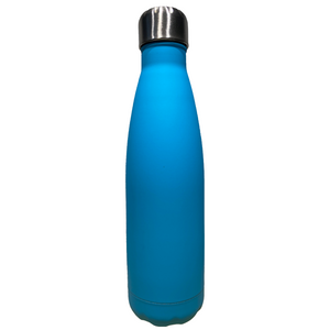 Drinkfles RVS - dubbelwandig 500 ml - blauw