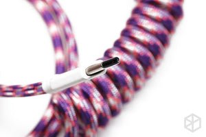 Nylon usb c port coiled Cable wire - TheKeyCaps - KeyCap