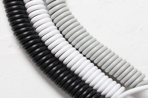 Coiled Cable Wire Black White Grey - TheKeyCaps - KeyCap