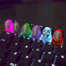 Load image into Gallery viewer, Spirited Away Colorful No Face Man Resin Keycaps - TheKeyCaps - KeyCap