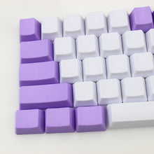 Load image into Gallery viewer, Purple White Keycap Set - TheKeyCaps - KeyCap