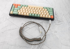 IDOBAO Nylon Usb C Port Coiled Cable Wire - TheKeyCaps - KeyCap