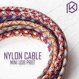 Nylon Cable wire Mechanical Keyboard GH60 USB cable mini USB por - TheKeyCaps