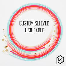 Load image into Gallery viewer, Colored sleeved Nylon USB Cable - TheKeyCaps - KeyCap