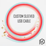 Colored sleeved Nylon USB Cable - TheKeyCaps