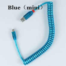 Load image into Gallery viewer, LINDY USB Coiled Cable wire - TheKeyCaps
