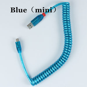 LINDY USB Coiled Cable wire - TheKeyCaps