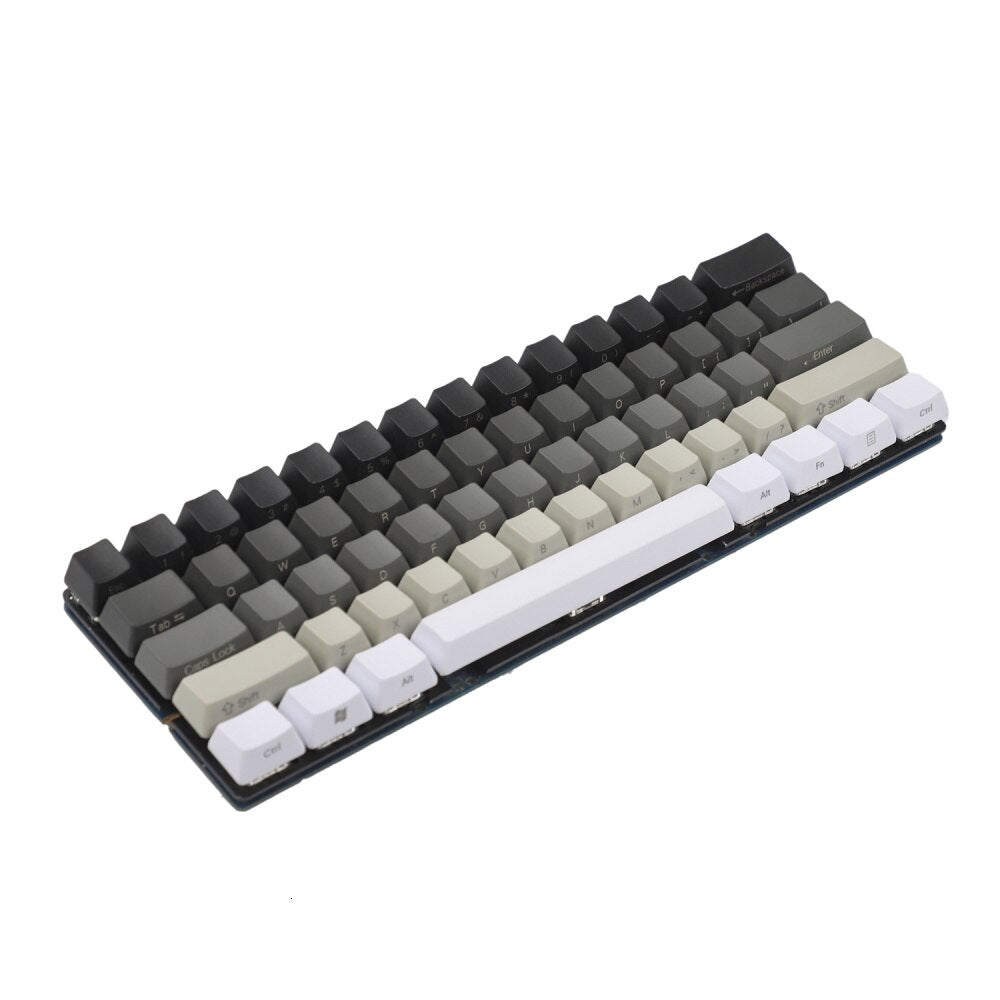 White Gray Black Mixed Keycap Set - TheKeyCaps - KeyCap