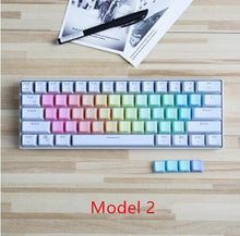 Load image into Gallery viewer, Transparent Rainbow 37 keys Keycap set - TheKeyCaps - KeyCap