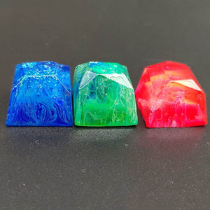 Red Blue Green Yellow Resin Keycaps - TheKeyCaps - KeyCap