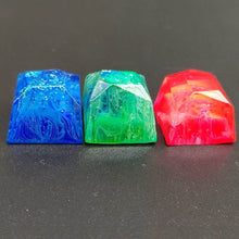 Load image into Gallery viewer, Red Blue Green Yellow Resin Keycaps - TheKeyCaps - KeyCap