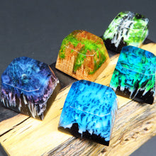 Load image into Gallery viewer, Snow Mountain Jungle Wood Keycaps - TheKeyCaps - KeyCap