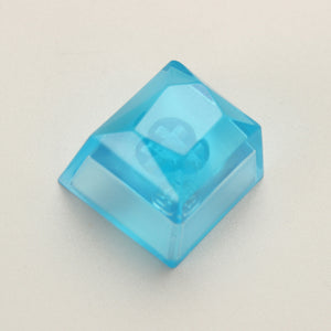 1pc resin gemstone full transparent key cap mechanical keyboard backlit keycap for MX switch - TheKeyCaps - KeyCap