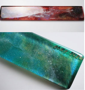 Handmade Starry Sky Moon Design Wrist Rest Resin Mechanical Keyboard Tray - TheKeyCaps - KeyCap
