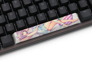 Novelty allover dye subbed Keycaps spacebar pbt custom mechanical keyboard Luo Tianyi ルオ・テンイ - TheKeyCaps