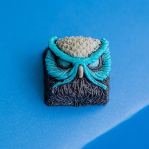 Owl multi-color personalized resin keycap - TheKeyCaps - KeyCap