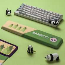 Load image into Gallery viewer, China Panda Bamboo Design Green Hand Wrist Res - TheKeyCaps - KeyCap